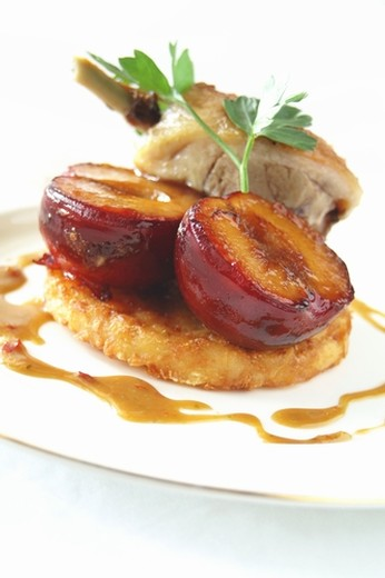 Balsamic-Marinated Pork Chops & Grilled Peaches