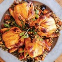 Cornish Game Hens with Wild Rice and Mushrooms